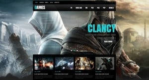 Gaming Website Template with Mobile Category