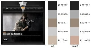 Gaming Website Templates Color Palette Dark