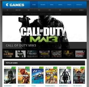 Gaming Website Template Menu