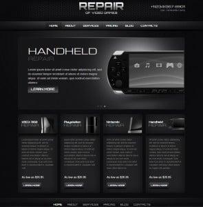 Computer and Gaming Software Repair Website Template