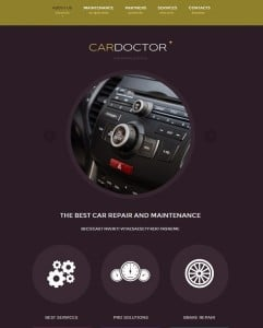 Car Website Template with Circles