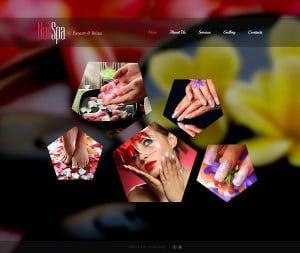 Website Template with Pentagonal Elements