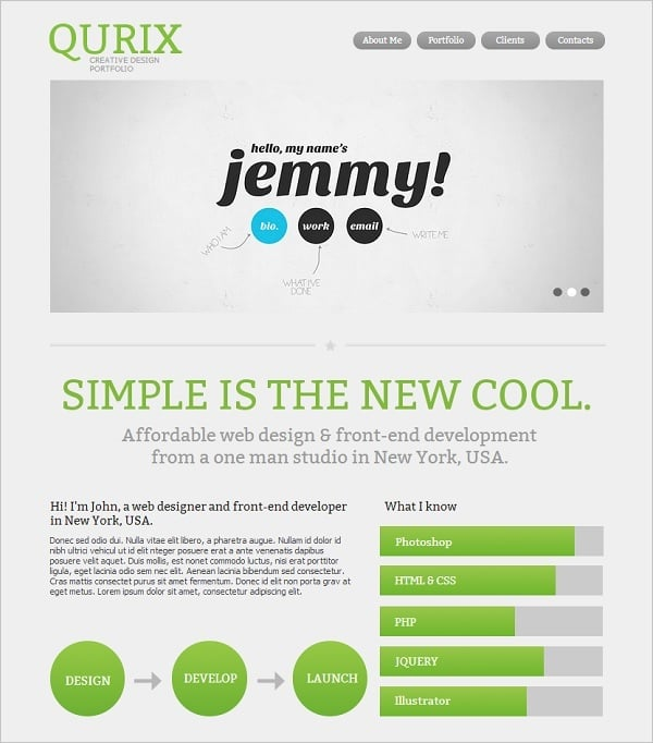 Website Template with Geometry in Web Design