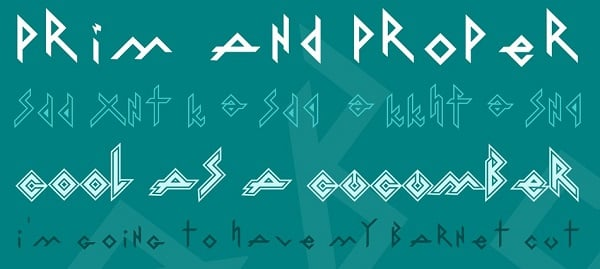 Iron Free Rock Band Fonts Family