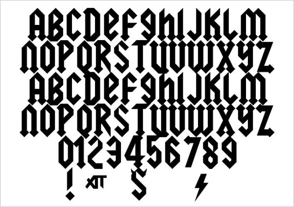 Squeeler Free Rock Band Font