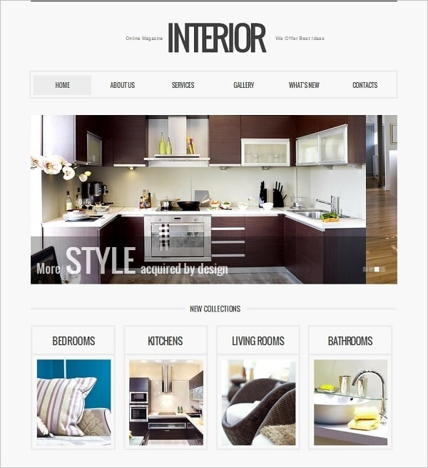 Symmetry in Interior Website Template
