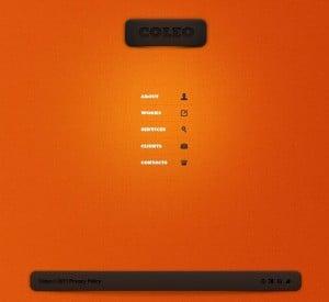 Orange Template with White Space in Web Design