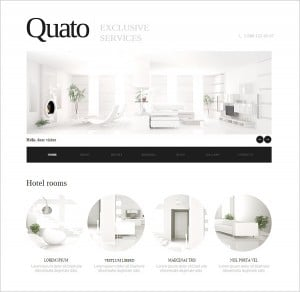 Interior Template with Whitespace in Web Design