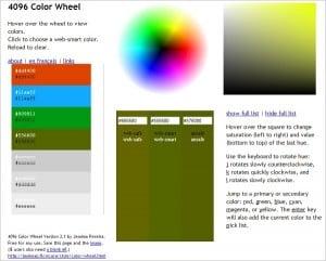 4096 Color Wheel Color Palette Generator