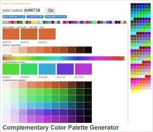 Web Colors Palette Generator