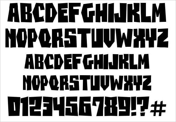 Free Rock Band Fonts - beanesdrock