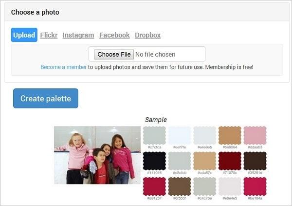 BigHugeLabs Color Palette Generator