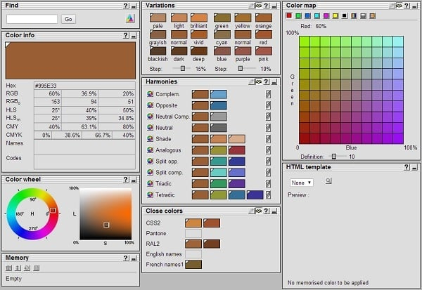 ColorDB Color Palette Generator