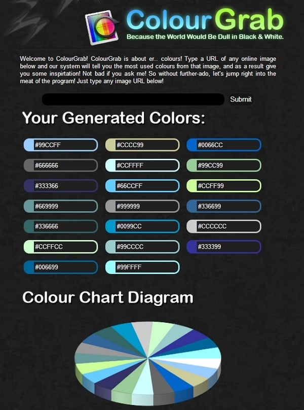 ColourGrab Color Palette Generator