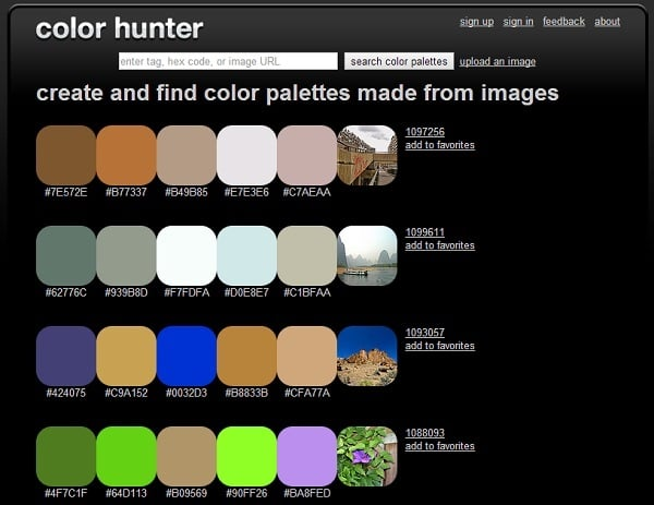 ColorHunter Color Palette Generator