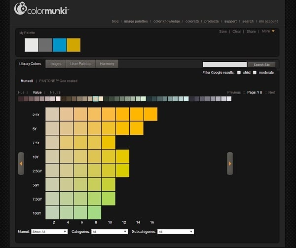 ColorMunki Color Palette Generator