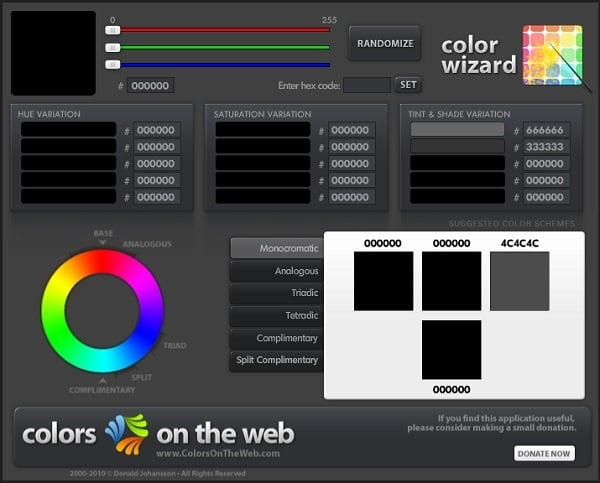 Color Wizard Color Palette Generator