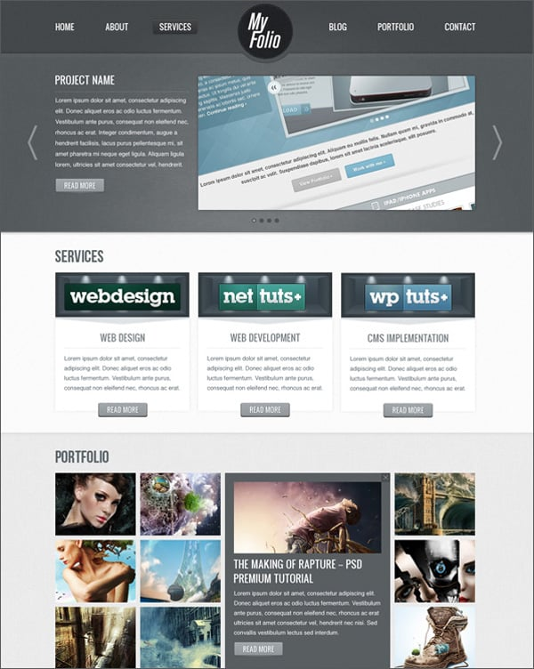 Create Website Layout in Photoshop – 50 Step-by-Step Tutorials