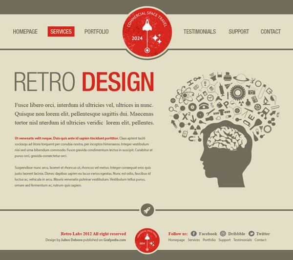 Website Layout in Photoshop – 50 Step-by-Step Tutorials