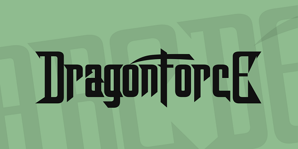 Free Rock Band Fonts - dragonforce