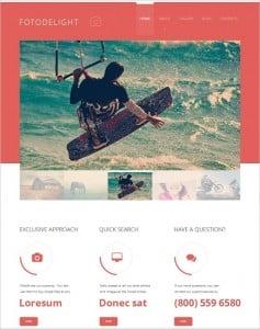 Photo Flat Website template