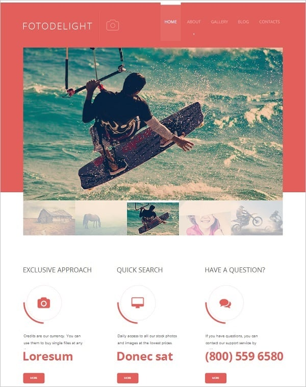 Photo Flat Website template