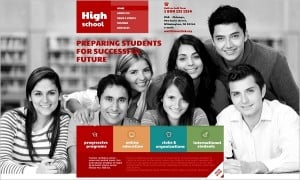 High School Website template