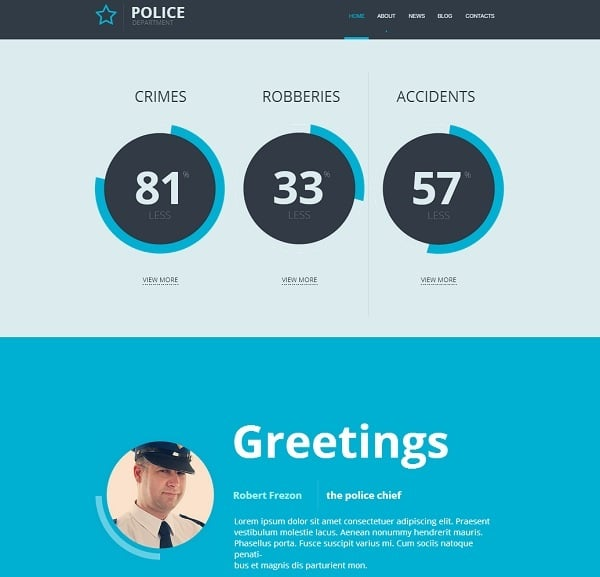 Security Flat Website Template