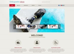 Flat Website Template Content