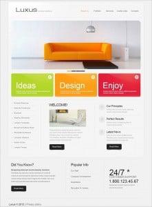 Colorful Interior Design Web Template