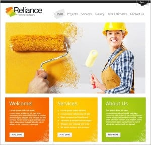 Paining Materials Company Website Template