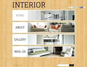 Wood Texture Background Interior Design Web Template