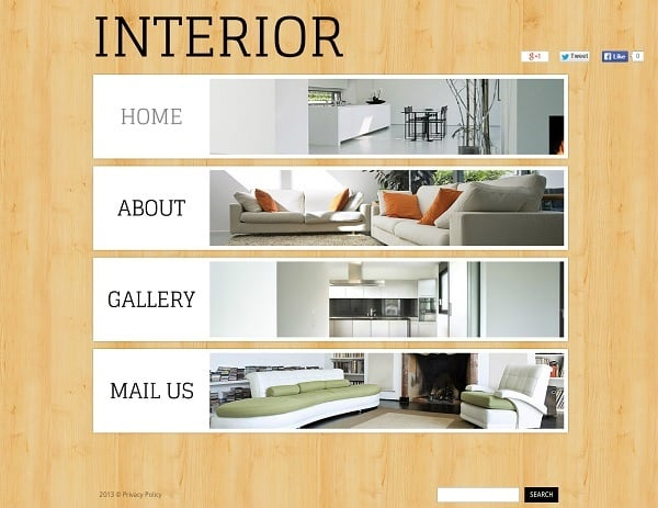 Wood Texture Background Interior Design Web Template