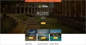 Website Template for Travel Company