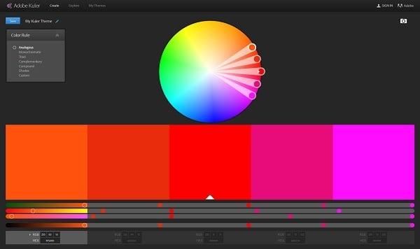 Kuler Color Palette Generator
