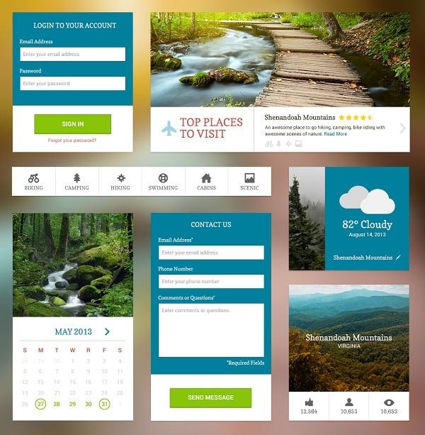 Natural Metro-Style UI Kit