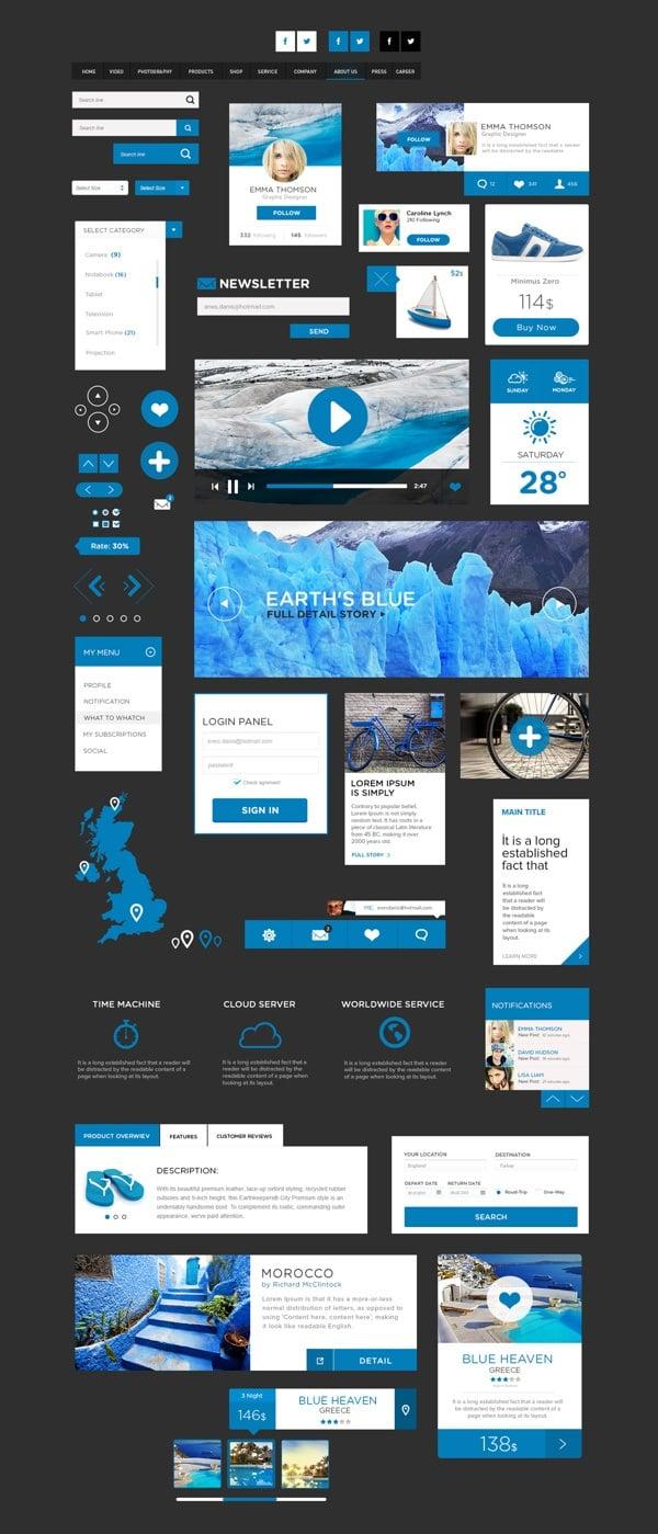 Metro UI Kit in Blue