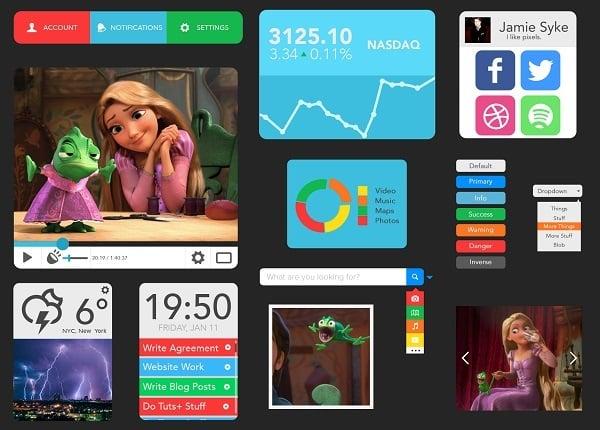 Cute Metro-style UI Kit
