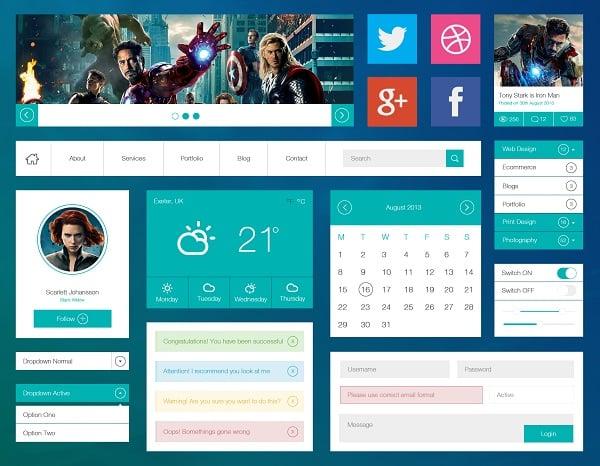 Metro-Style Avengers UI Kit