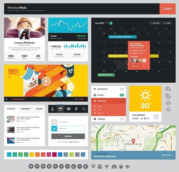 Colorful Metro UI Kit