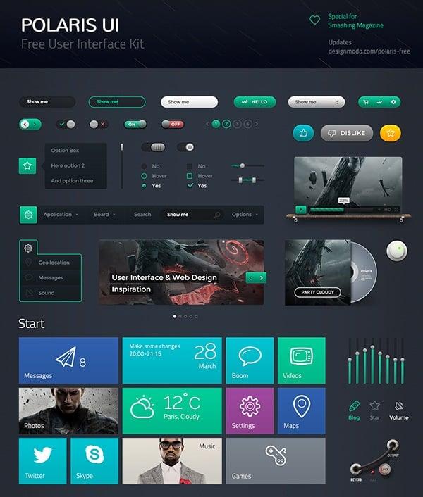 Dark Metro-Style UI Kit