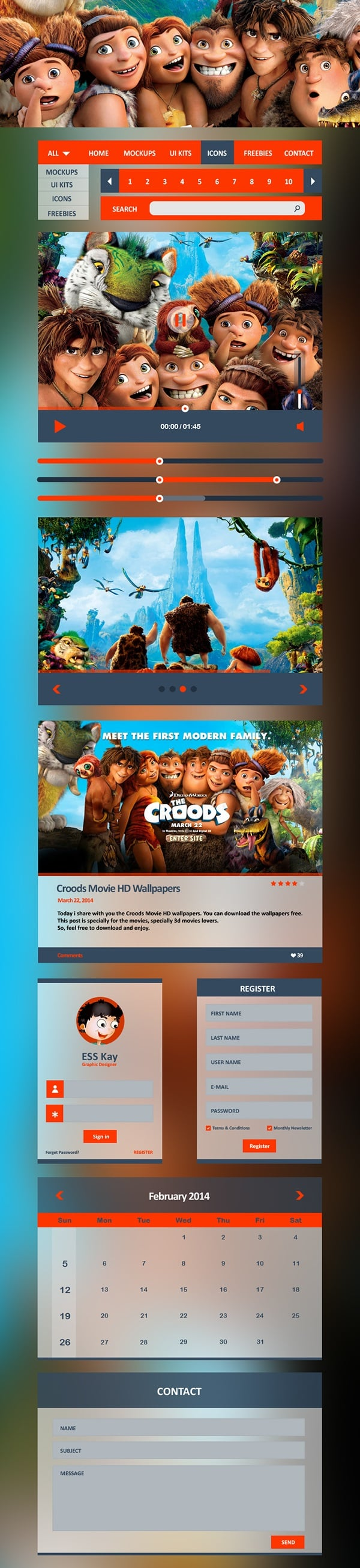 Croods Metro UI Kit