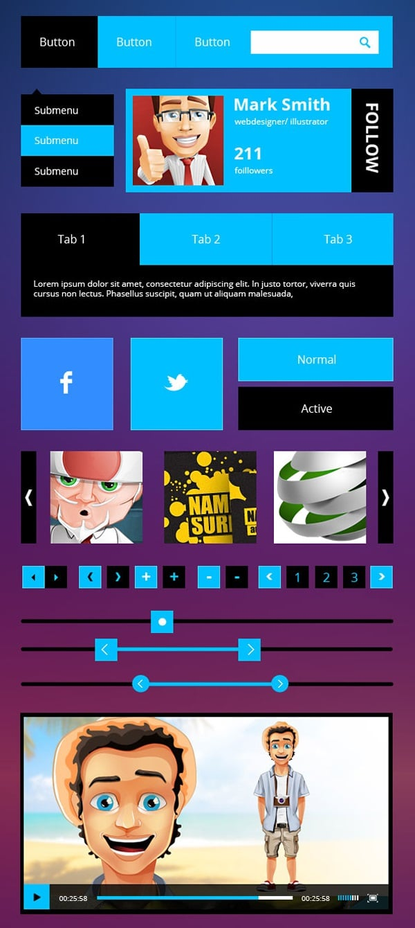 Metro UI PSD Kit