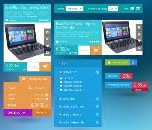 E-Commerce Metro UI KIt