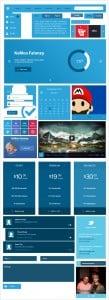 Blue Metro-Style UI Kit