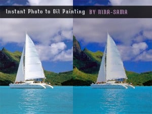 Photo-to-Oil-Painting Free Photoshop Action
