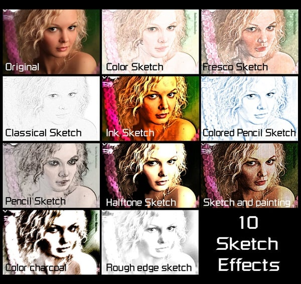 10 Free Photoshop Actions for Sketch Effect