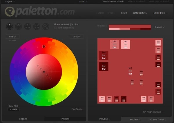 Paletton Color Palette Generator