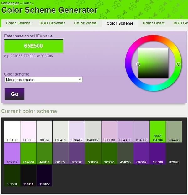 PerBang Color Palette Generator