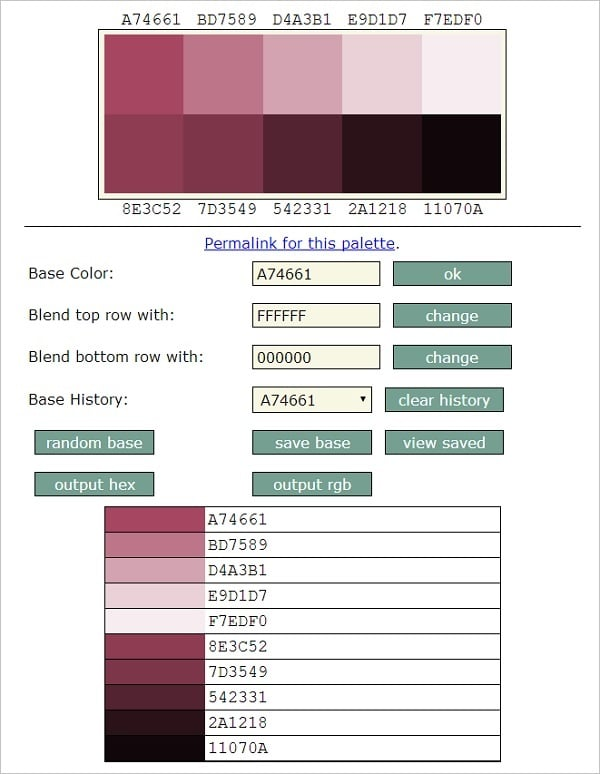 SlayerOffice Color Palette Generator